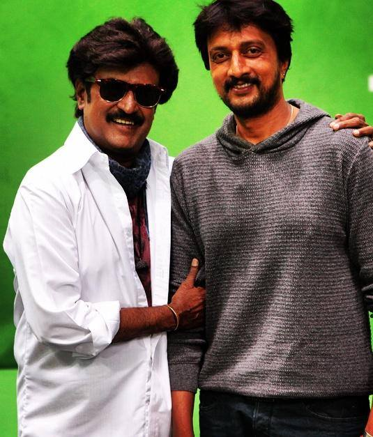 Sudeep with rajini