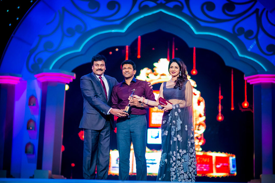 Puneeth rajkumar at siimha awards