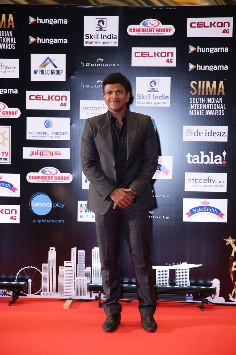 Puneeth Rajkumar at Siima awards 2016