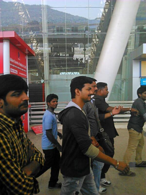 Vijay @ Chennai Airport