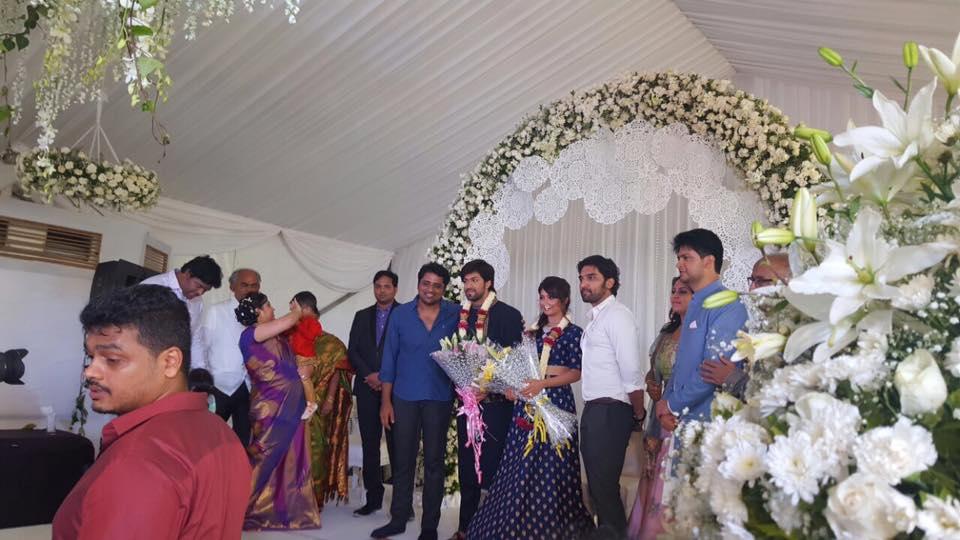 Anish Tejeshwar at yash radhika pandit engagement