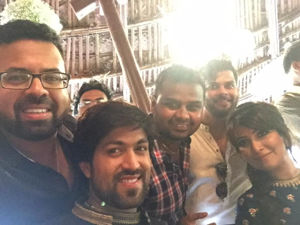 santosh anandram at yash and radhika pandit engagement