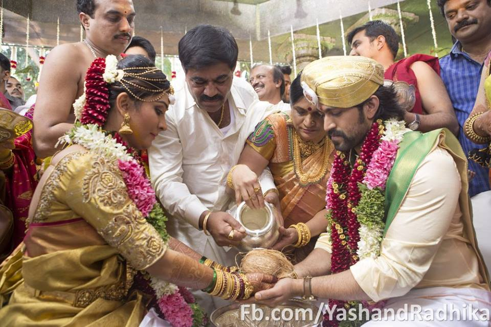 Yash radhika pandit marriage photos