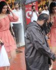 Khushi Kapoor spotted in CUTE peach dress during monsoon