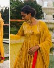 Sonam Kapoor opts for Traditional Yellow Anarkali for her Indonesia vacations