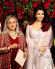 Deepika  Ranveer Reception: Aishwarya Rai, Amitabh, Shweta Bachchan & Jaya at party