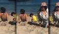 Suhana Khan and Abram ENJOYING SUNBATH at Malibu Beach