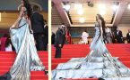 Cannes 2018: Winnie Harlow Surprises With Her Unique Liquid Silver Gown At Red Carpet