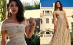 Priyanka Chopra Dazzle In Golden Christian Dior Dress At Royal Reception
