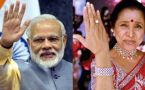 PM Narendra Modi receives best wishes from Asha Bhosle