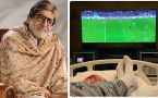 Amitabh Bachchan shares photo of watching Premier League while on bed rest