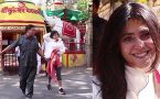 Ekta Kapoor seek blessings from Shani Temple;Watch video
