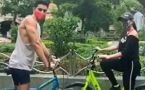 Sara Ali Khan enjoys bicycle ride with brother Ibrahim Ali Khan