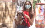 Sonnalli Seygall spotted at outside pet clinic with her Dog
