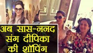 Deepika Padukone's Shopping With Ranveer Singh's Mother ...