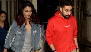 Aishwarya Rai & Abhishek Bachchan enjoy evening by watching Fanney Khan; Watch Video