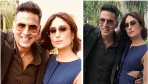 Akshay Kumar shares pictures with Kareena Kapoor Khan from sets of Good News