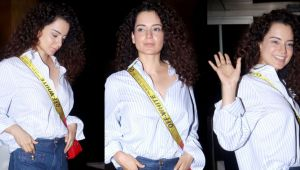 Kangana Ranaut leaves for Cannes 2019; spotted at Mumbai airport