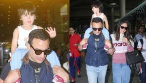 Taimur Ali Khan back to Mumbai with Kareena Kapoor Khan-Saif Ali Khan; Check Out