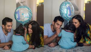 Neha Dhupia & Angad Bedi get EMOTIONAL on daughter Mehr's 1st birthday; Check out