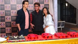 Yeh Rishta Kya Kehlata team celebrating after completing 12 years