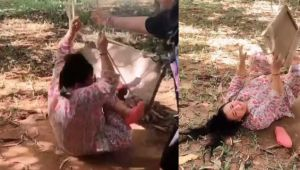 Bharti Singh felt while swinging funny video goes viral; Watch video