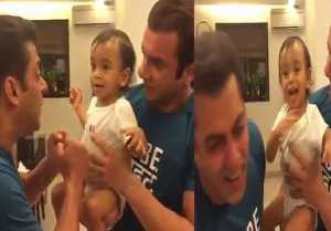 Salman Khan CUTE FIGHT video with Ahil Sharma will melt your heart
