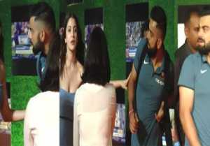 Anushka Sharma pushes Virat Kohli during Sachin: A Billion Dreams screening