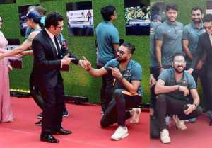 Sachin: A Billion Dreams: Yuvraj Singh touches Sachin Tendulkar's feet