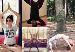 Shilpa Shetty, Huma Qureshi, Aditi Rao Haydri celebarte World Yoga Day
