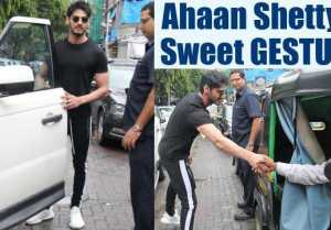 Sunil Shetty son Ahaan Shetty SWEET GESTURE towards AUTOWALA