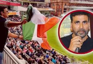 Akshay Kumar gets TROLLED for holding Indian Flag UPSIDE DOWN