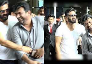 Sunil Shetty की Airport पर Fan के साथ मस्ती; Watch Video