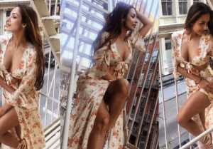 Malaika Arora looks STUNNINGLY HOT in FLORAL DRESS; Watch