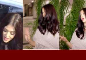 Aishwarya Rai IRRITATED getting CLICKED on Sridevi B'DAY at Manish House; Watch