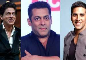 Shahrukh Khan, Salman Khan and Akshay Kumar in FORBES 2017 TOP 10
