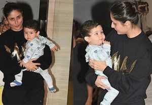 Taimur Ali Khan मम्मी Kareena Kapoor के B'Day पर कुछ इस अंदाज़ में नज़र आए