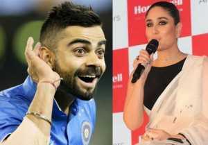 Kareena Kapoor says I LOVE Virat Kohli !