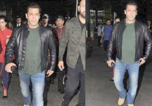 Salman Khan WRAPS UP Tiger Zinda Hai and DaBangg Tour, SPOTTED at Mumbai Airport