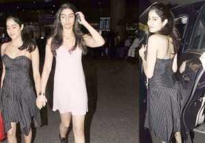 Jhanvi Kapoor and Khushi Kapoor looked GORGEOUS at Mumbai Airport
