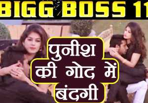 Bigg Boss 11: Bandgi Kalra SITTING on Puneesh Sharma's LAP
