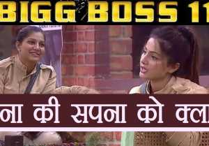 Bigg Boss 11: Hina Khan becomes TEACHER of Sapna Chaudhary, teaches her English  FilmBeat