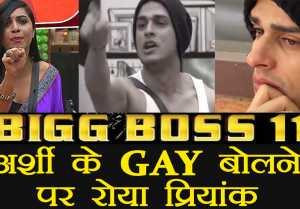 Bigg Boss 11: Arshi Khan CALLS Priyank Sharma GAY, Priyank CRIES