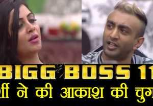 Bigg Boss 11: Arshi Khan EXPOSES Aakash Dadlani infront of Shilpa Shinde