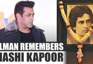 Salman Khan REMEMBERS Shashi Kapoor and Vinod Khanna; Watch Video