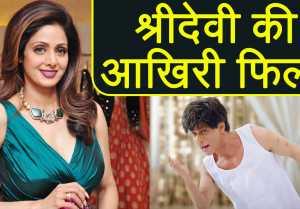 Sridevi Last Film : Shah Rukh Khan's Zero Will Be Sridevi's Last Film