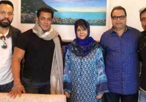 Salman Khan Meets CM Mehbooba Mufti With Race 3 Team
