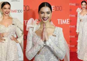 Deepika Padukone Sizzles At Red Carpet Of Time 100 Gala In New York City