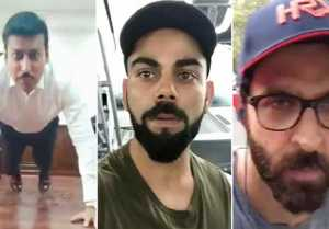 Virat, Hrithik Roshan & Others Accept Fitness Challenge Started By Rajyavardhan Rathore
