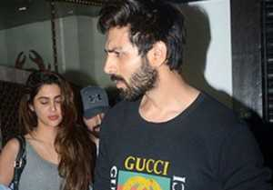 Kartik Aryan Again Spotted With GF Dimple Sharma At Dinner Date